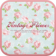 Vintage flower go locker theme