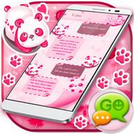 GO SMS Pink Panda