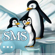 Penguins Tema GO SMS Pro