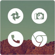 Light Void - Flat White Icons (Free Version)