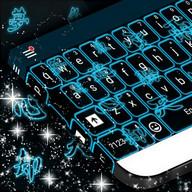 Neon Symbols Keyboard Theme