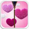 Pink Love Zipper Lock Screen