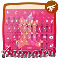 Pink party Keyboard Animated
