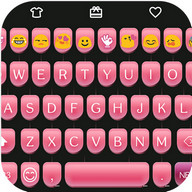 Pink Type Writer Keyboard Skin