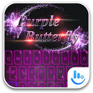 Purple Butterfly TouchPal Theme