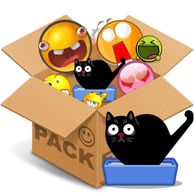 Emoticons pack, Cats HQ