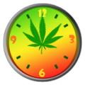 Weed Ganja Clock