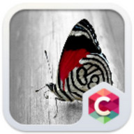 Red Butterfly C Launcher Theme