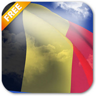 3D Belgium Flag Live Wallpaper