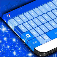 Blue Keyboard Background