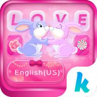 Bunny Love Emoji Keyboard Theme