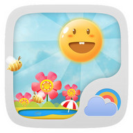 Cute Garden GO Weather Live BG