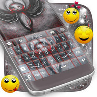 Emo Angel Keyboard Theme