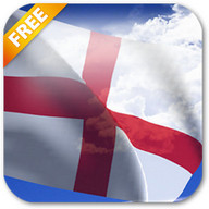 3D England Flag Live Wallpaper