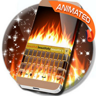 Animated Fire Keyboard Theme