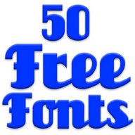 Free Fonts 50 Pack 1