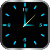 Glowing Clock Locker - Blue