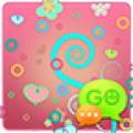 GO SMS Pastel Pink Theme