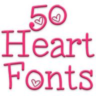 Fonts for FlipFont 50 Hearts