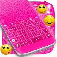 Keyboard Pink Cheetah Theme