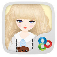 Lovely Girl GO Launcher Theme