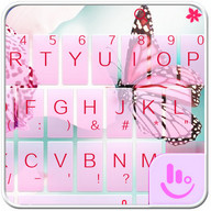 Pink Butterfly Tema Keyboard