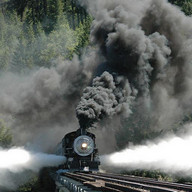 Trains on Bridges Wallpaper