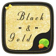 (FREE) GO SMS GOLD&BLACK THEME