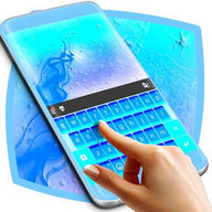Neon Blue Theme Keyboard