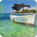 Boat on the sea live wallpaper