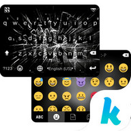 Cracked Screen Kika Keyboard
