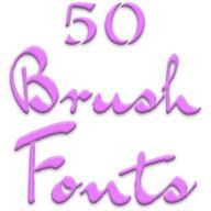 Fonts for FlipFont 50 Brush