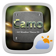Camo GO Weather Widget Theme