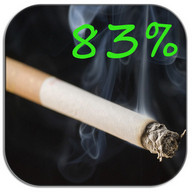 Cigarette - Battery, wallpaper - A virtual cigarette that slowly burns to show your battery level