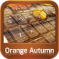 GO Keyboard Orange Autumn Theme