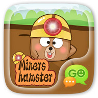 GO SMS MINERS HAMSTER STICKER