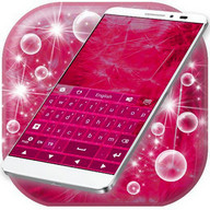 Pink Keyboard for Galaxy S4