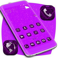 Purple Diamonds Launcher Theme