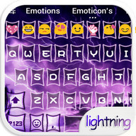 Purple Lighting Storm Theme – Emoji Keyboard ⚡