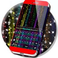 Rainbow Neon Keyboard Theme