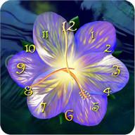 Serene flower clock HD widget