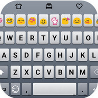 Simple Blue Emoji Keyboard