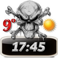 Skulls Clock Weather Widget