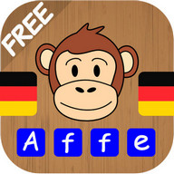 Kids learn German Words - practise to read, write