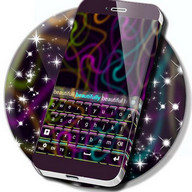 Super Cool Neon Keyboard Theme