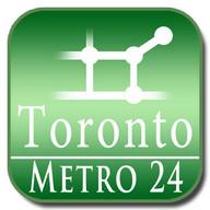 Toronto metro map for Metro24
