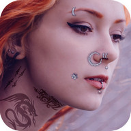 Piercing photo editor - Try piercing & skin art