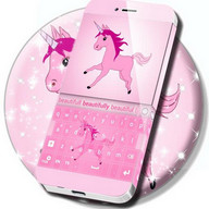 Cute Unicorn Keyboard Theme