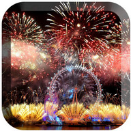 Fireworks in new years LWP