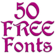 Free Fonts 50 Pack 3